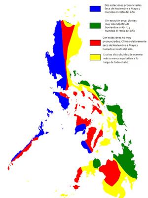 tipos de clima en filipinas
