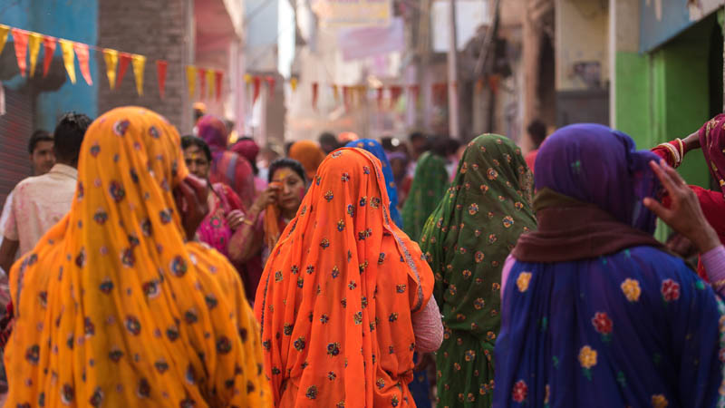 viaje a india colores