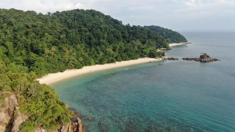 snorquel en las islas de malasia